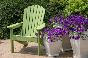 Cleaning an Adirondack chair