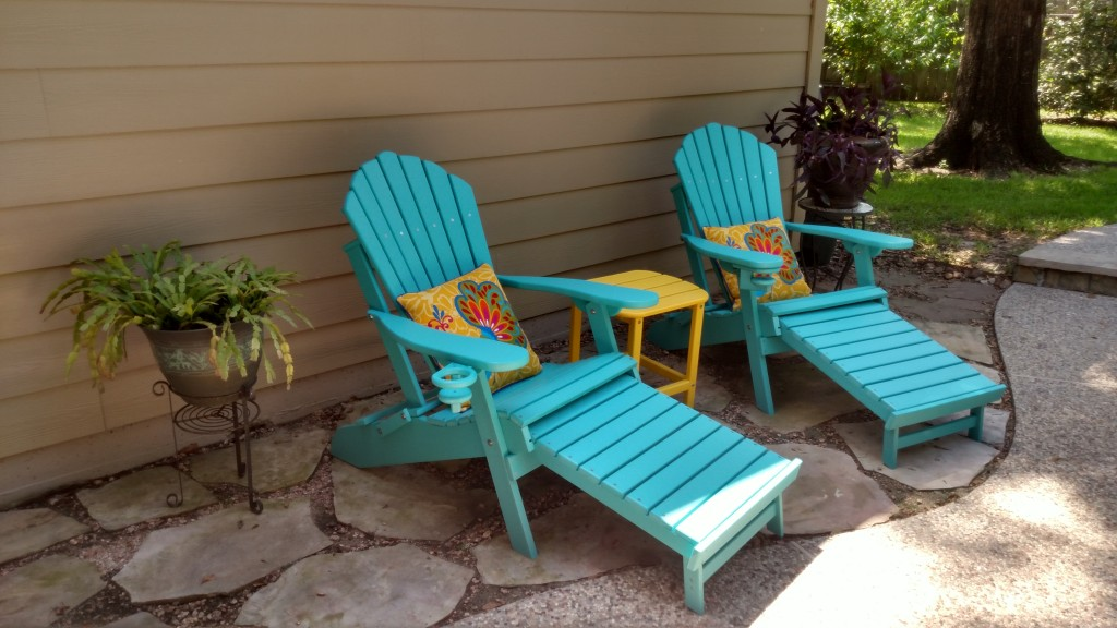 Adirondacks with Accent Pillows