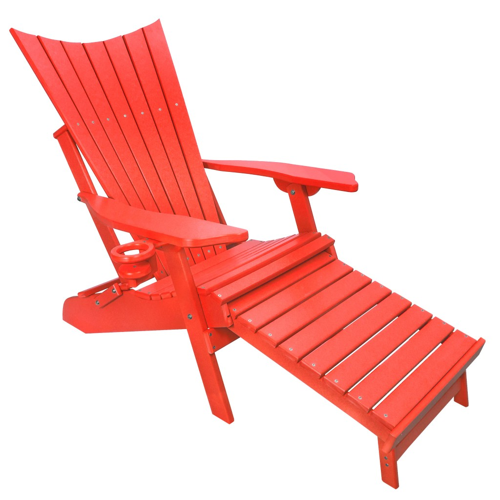 Red Poly Lumber Captain's Chair