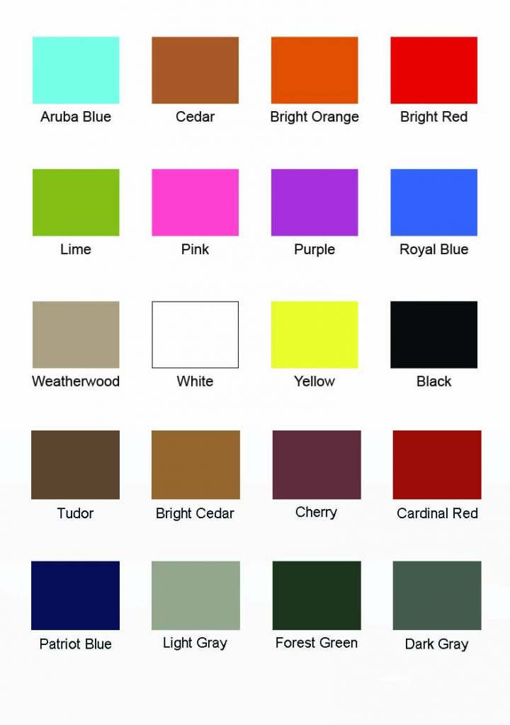 Poly Swatch Guide