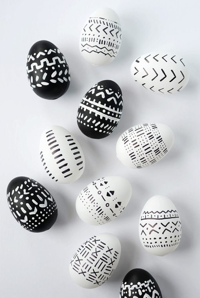 Mudcloth-Inspired Eggs