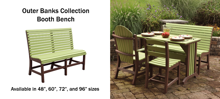 Outer Banks Bench with Dining Set