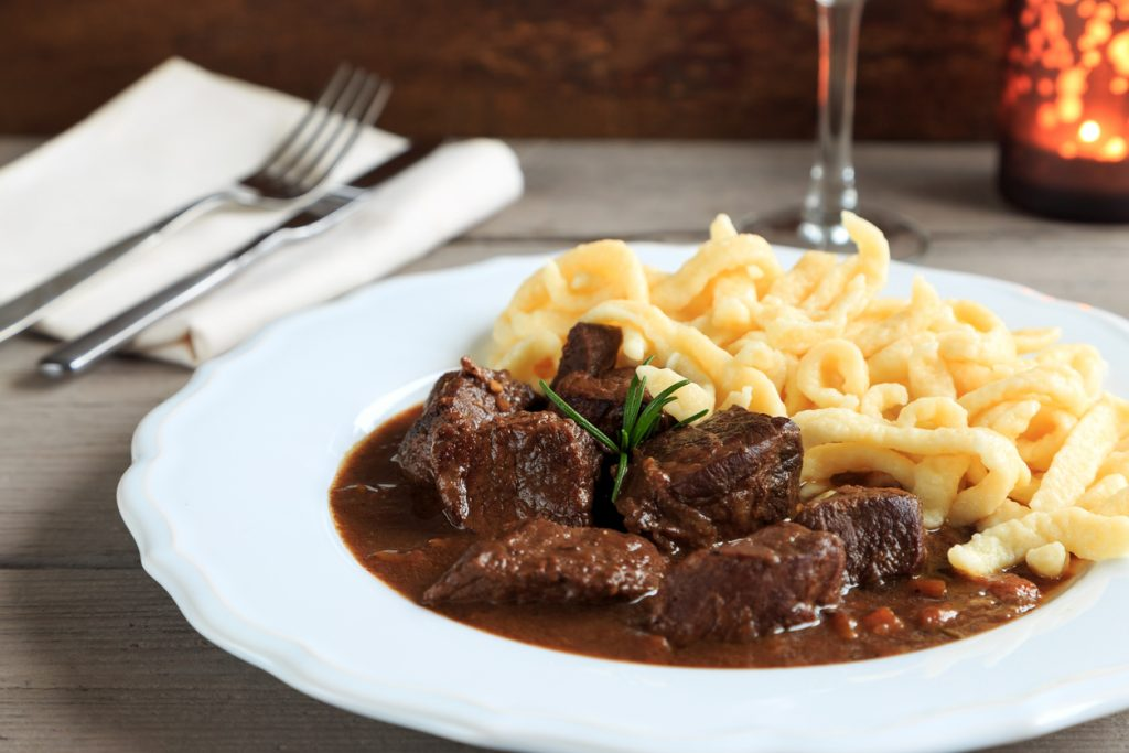 Hungarian Beef Goulash with Spaetzle