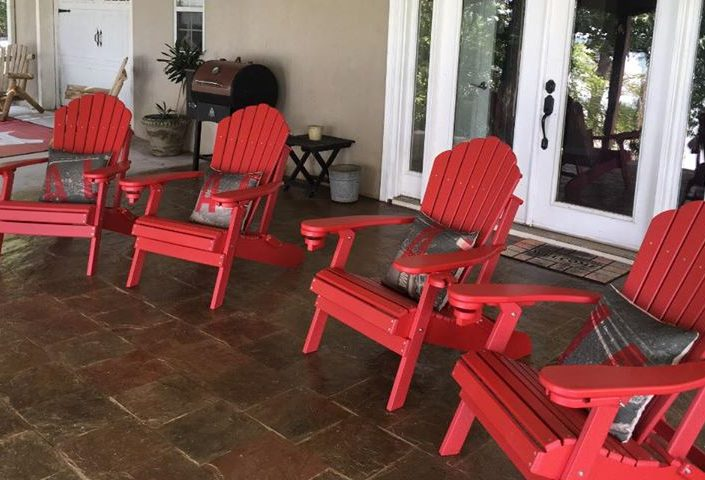 Deluxe Outer Banks Adirondack Chairs in Cardinal Red