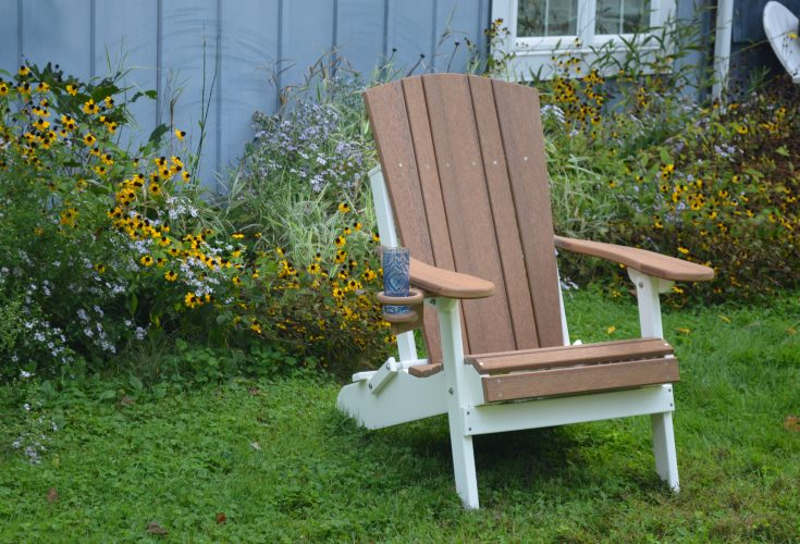 Harbor Adirondack Chair in Antique Mahogany and White