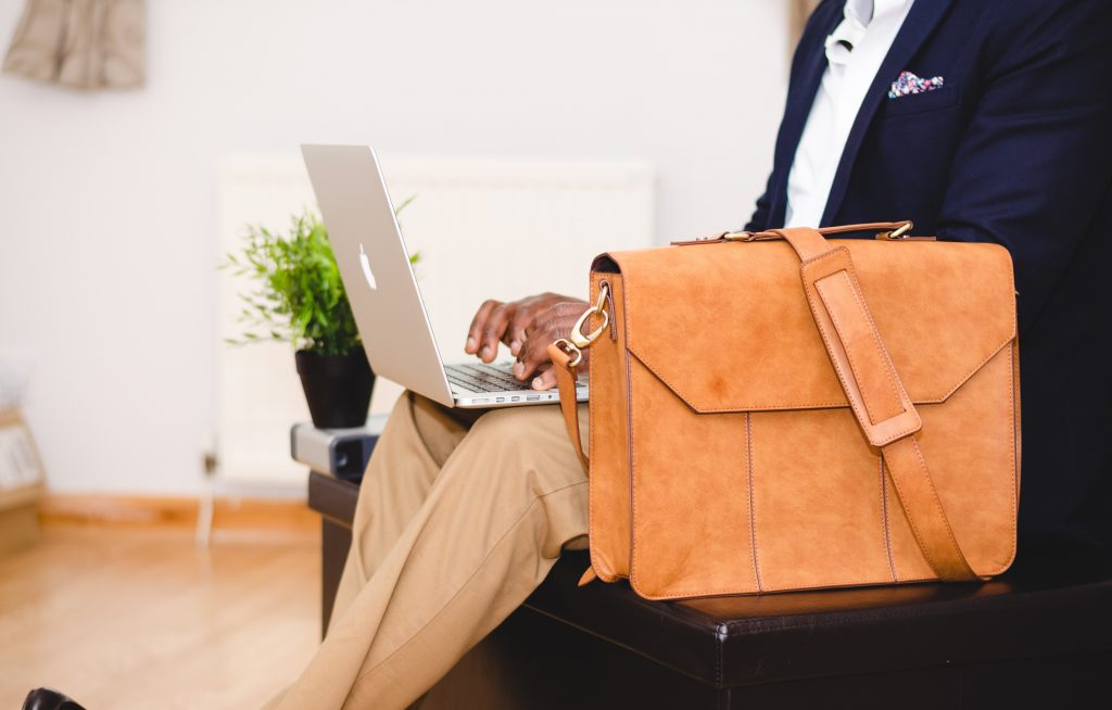Man with Laptop and Bag