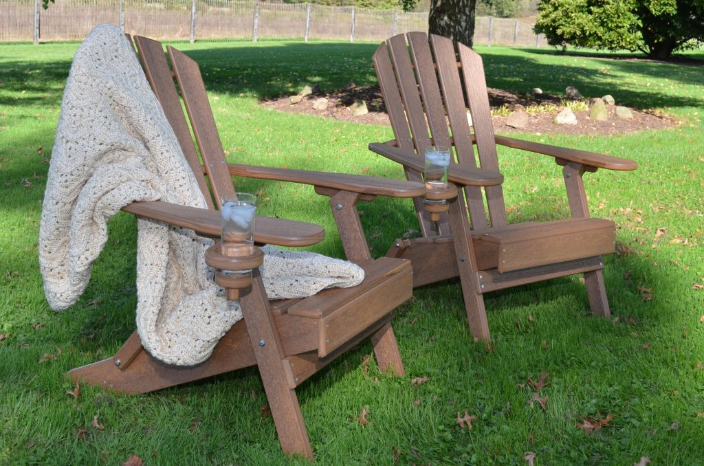 Value Line Adirondack Chairs with Blankets and Drinks