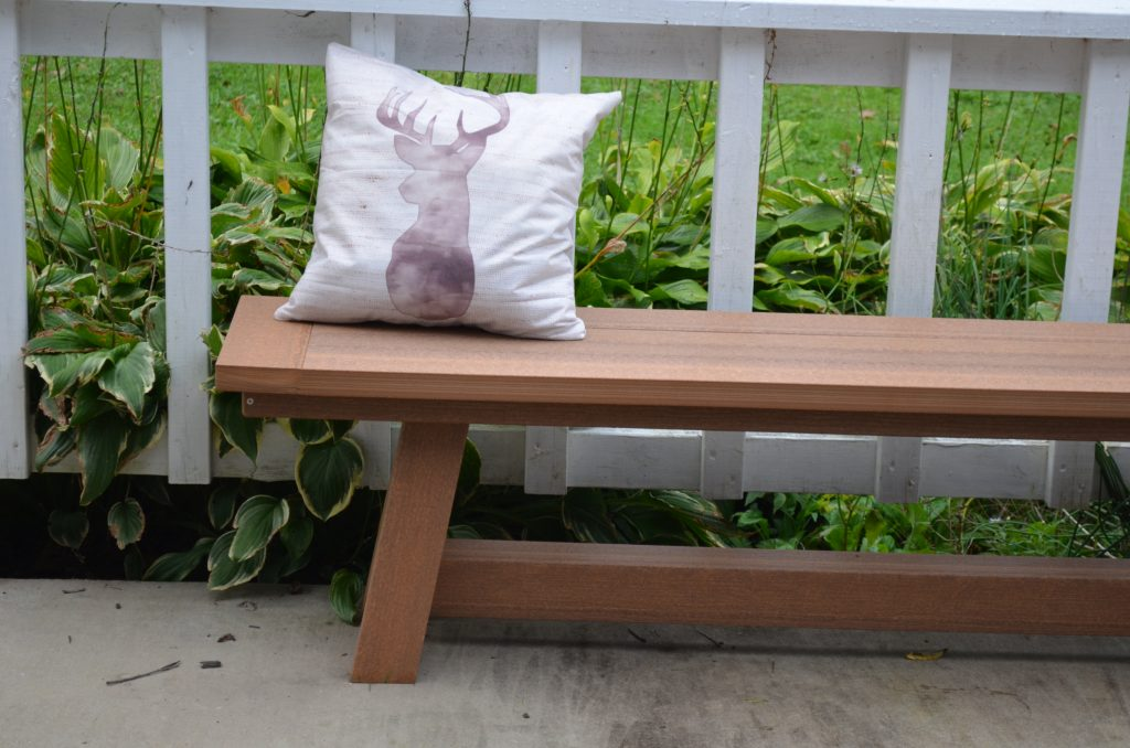 Montauk Backless Bench with Pillow