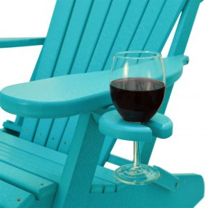 ECCB Outdoor Deluxe Adirondack Chair Wine Glass Holder