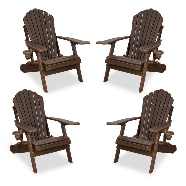 Set of 4 Deluxe Adirondack Chairs in Brazilian Walnut