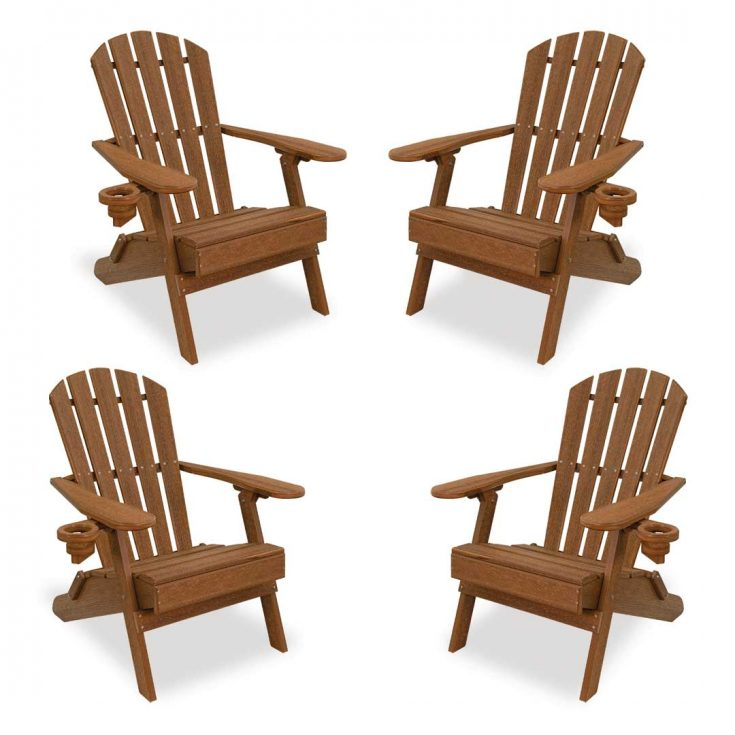 Set of 4 Value Line Adirondack Chairs in Antique Mahogany