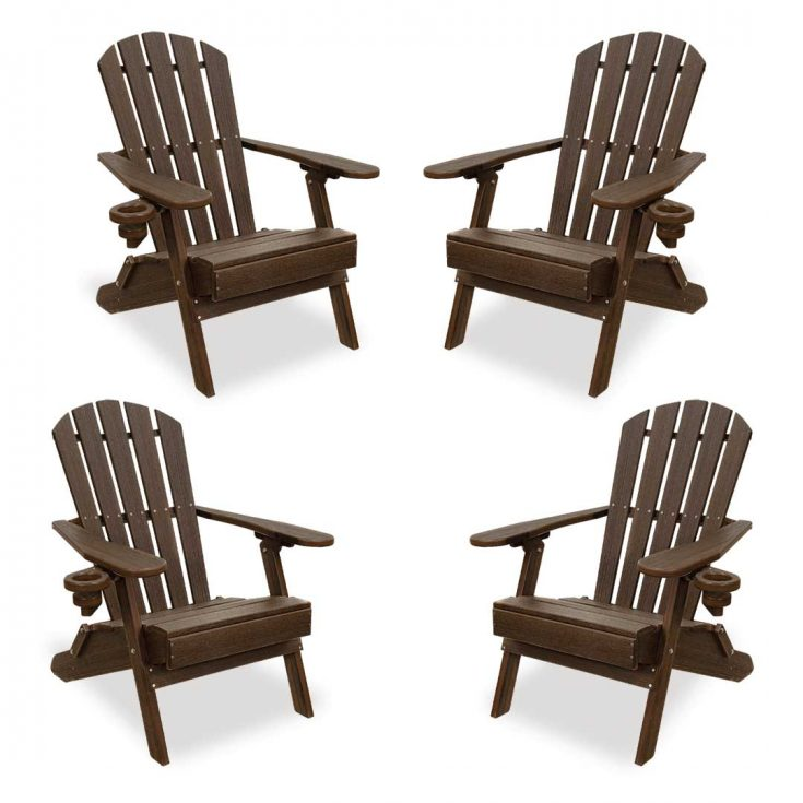 Set of 4 Value Line Adirondack Chairs in Brazilian Walnut