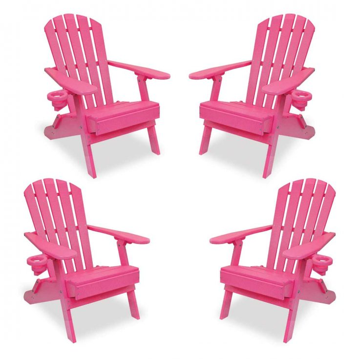 Set of 4 Value Line Adirondack Chairs in Pink