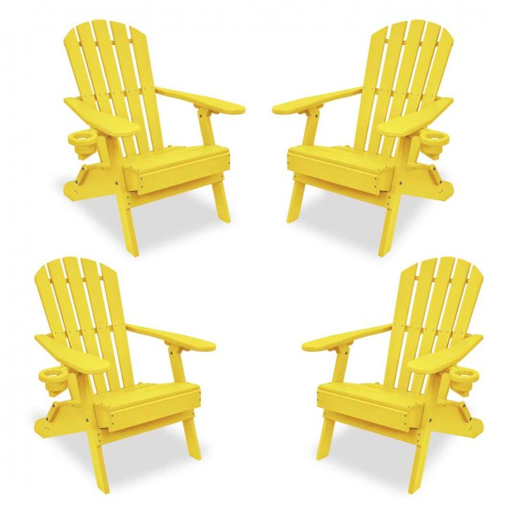 Set of 4 Value Line Adirondack Chairs in Yellow