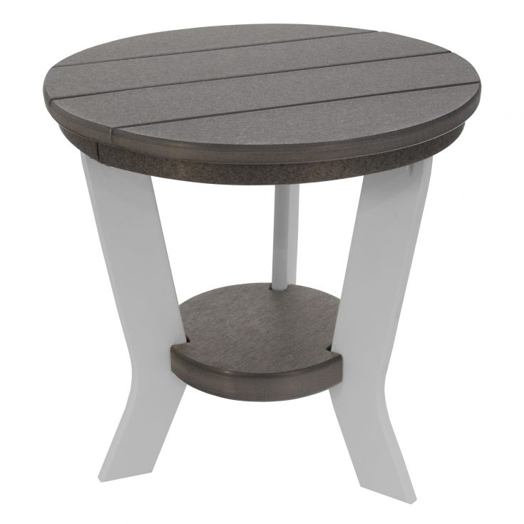 Lake Shore Side Table in Dark Gray and White