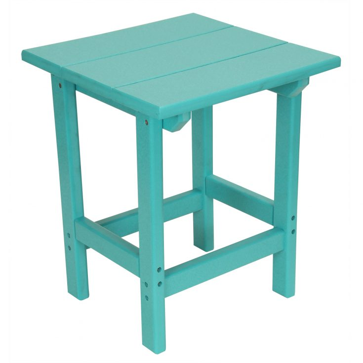 Outer Banks Value Line Square Side Table in Aruba Blue