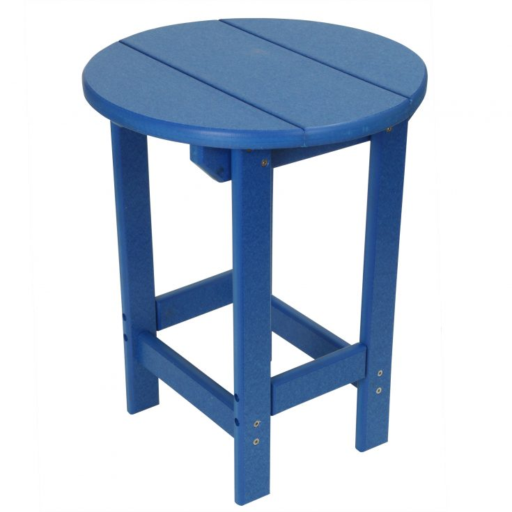 Outer Banks Value Line Round Side Table in Royal Blue