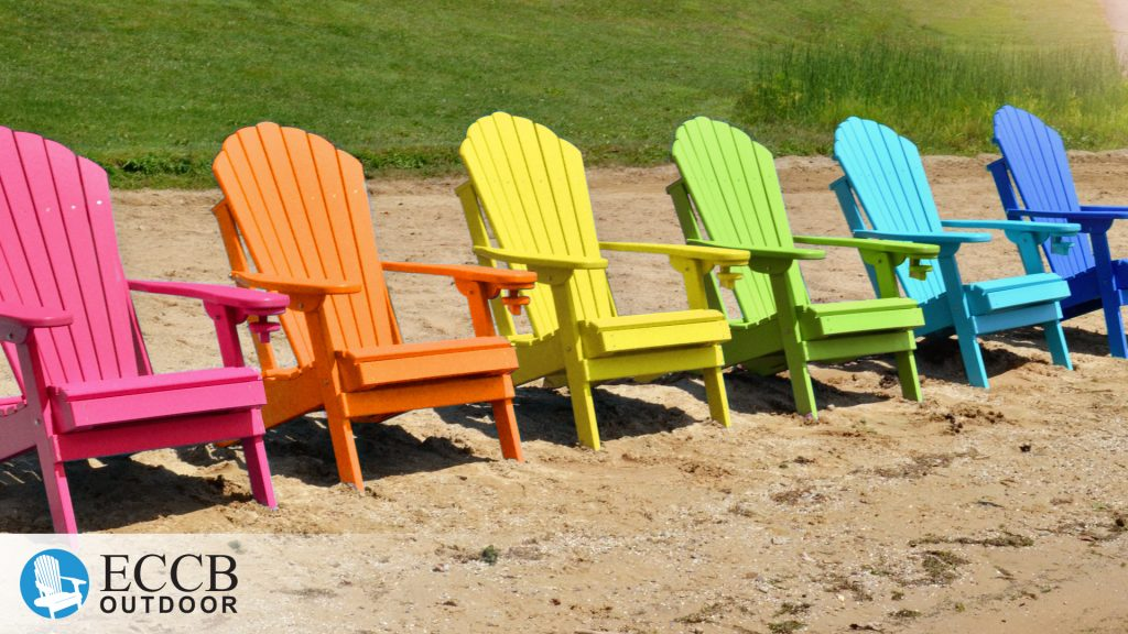 ECCB Outdoor Deluxe Adirondack Chairs in Rainbow of Colors