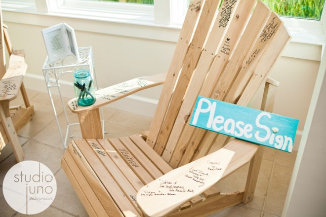 Adirondack chair wedding guestbook