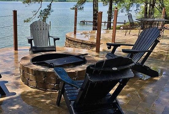Deluxe Outer Banks Adirondack Chairs in Black