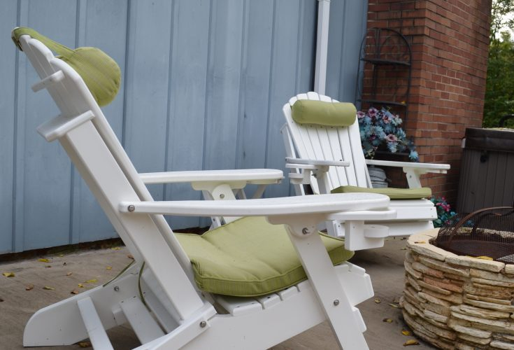 Deluxe Outer Banks Adirondack Chair with Integrated Footrest in White