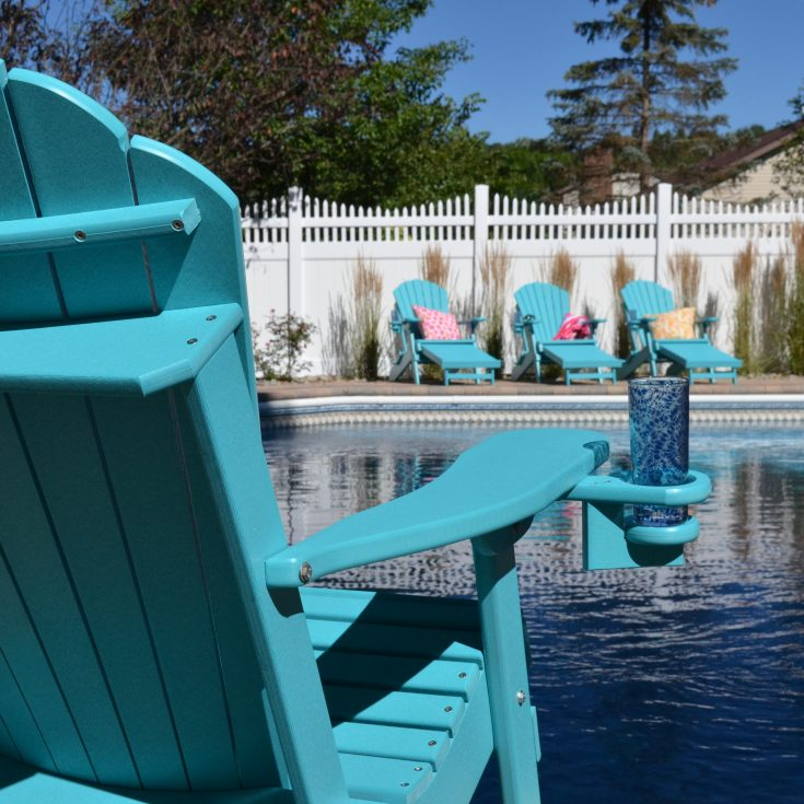 Outer Banks Collection Deluxe Adirondack Chair at Pool