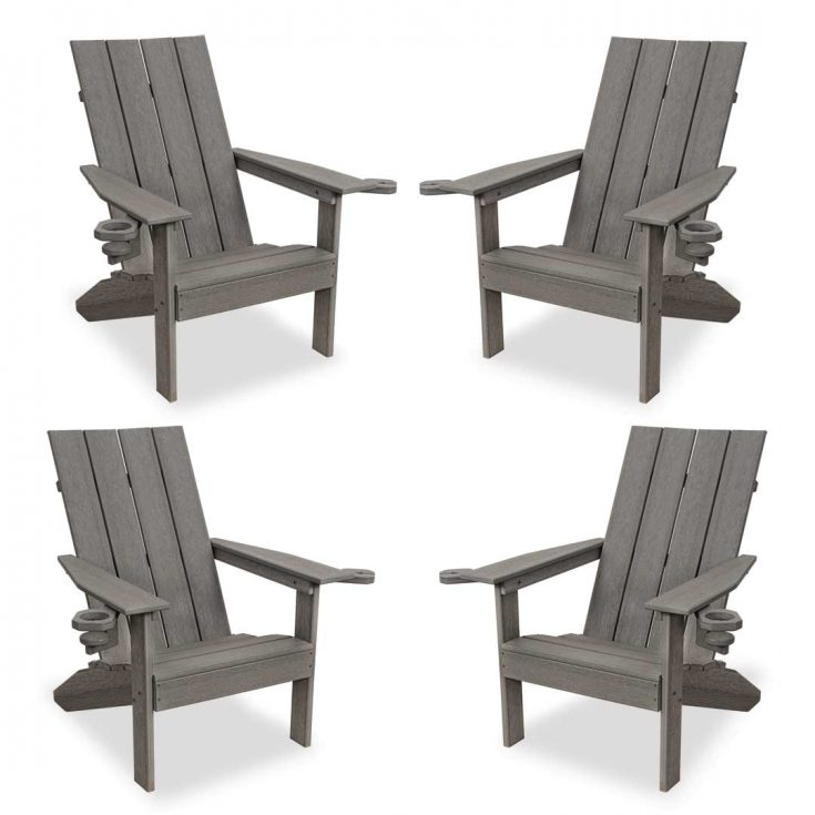 Set of 4 Creek Side Adirondack Chairs in Driftwood Gray