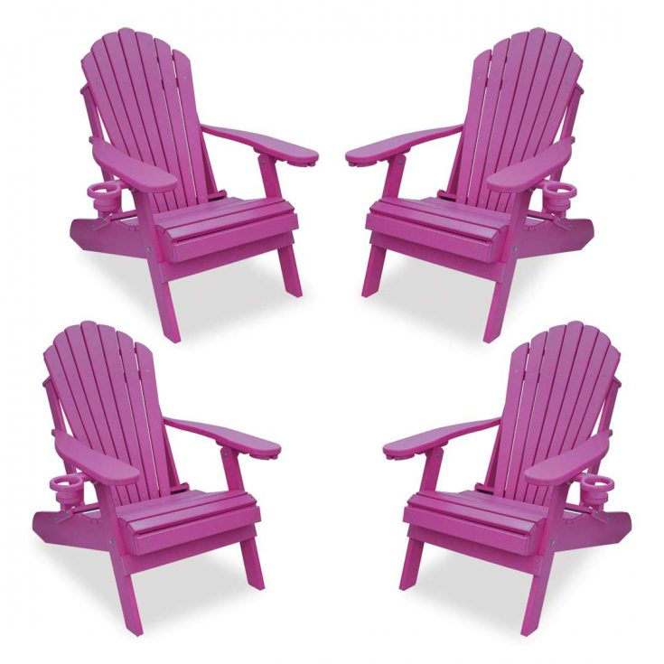 Set of 4 Deluxe Adirondack Chairs in Purple