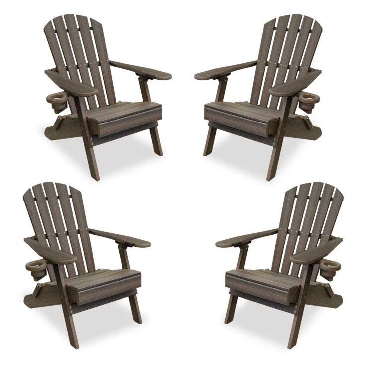 Set of 4 Value Line Adirondack Chairs in Coastal Gray