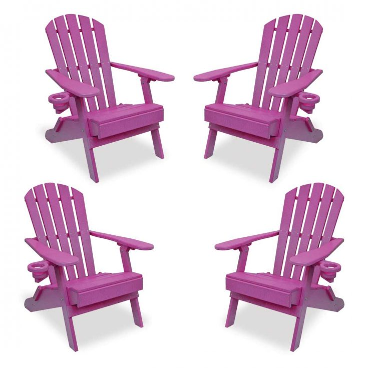 Set of 4 Value Line Adirondack Chairs in Purple