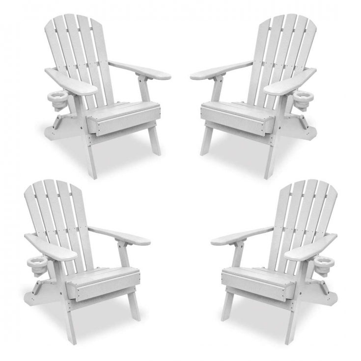 Set of 4 Value Line Adirondack Chairs in White